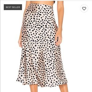 NEW LOVERS AND FRIENDS LEOPARD MIDI SKIRT